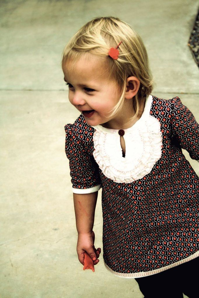 Ruffled Keyhole shirt. A step-by-step tutorial by Prudent Baby. Includes instructions for making your own pattern.