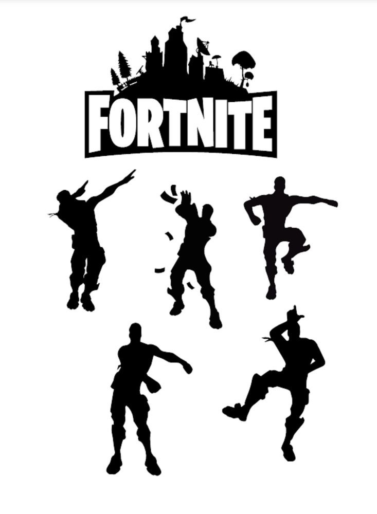 Fortnite Vinyl Decal Set Dlcdesigns 10th Birthday