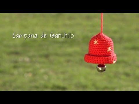 Cómo hacer una campana de ganchillo para Navidad | Crochet Christmas bell - YouTube