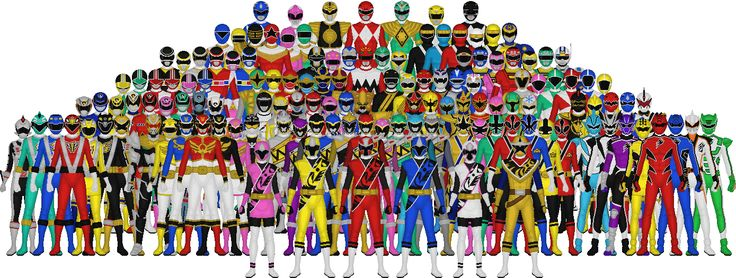 ***Updated 3/2/17 with Ninja Steel, recolored palettes, and the removal of the gawdy BS!!*** This is a big picture of all the Power Rangers teams. This used to be a much busier, gawdier, INYOURFACE...