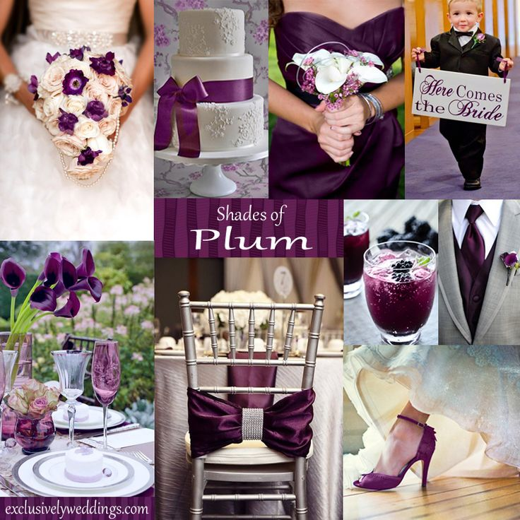 Plum with silver/gray color scheme - very elegant!
