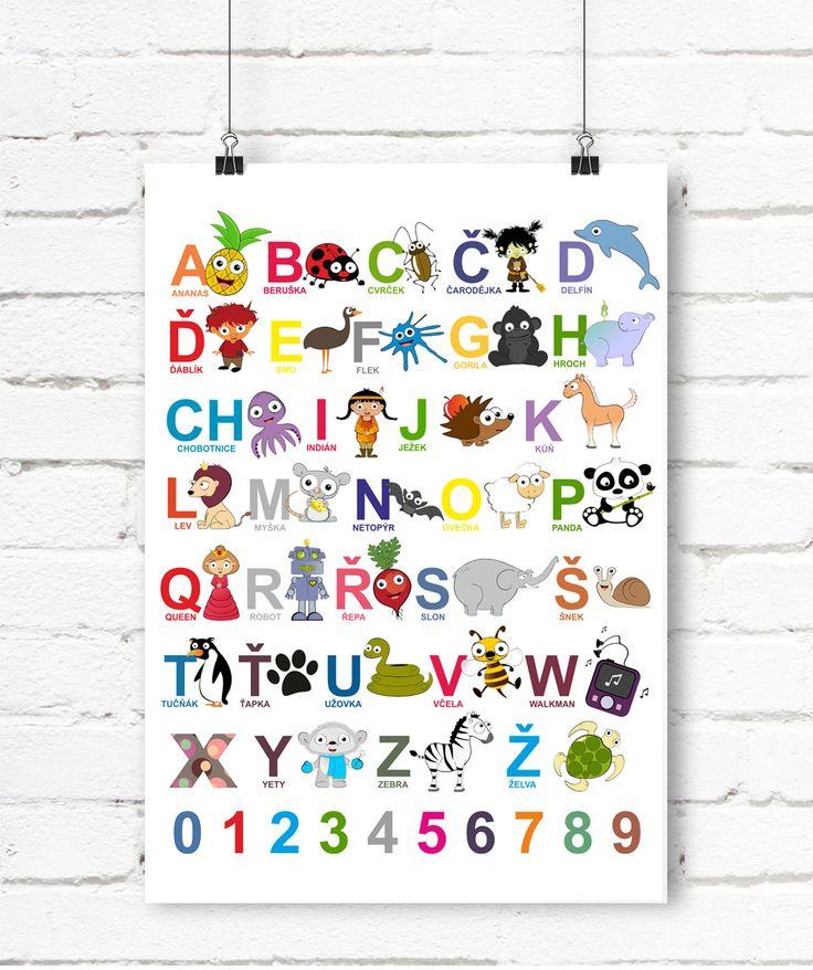 Česká+abeceda+-+plakát+-+A3+Roztomilý+vzdělávací+obrázek+a+zároveň,+příjemná+dekorace,+která+ozdobí+každý+dětský+pokojíček,+školičku+i+třídu+;-)+Obrázek+je+vytištěn+na+kvalitním+papíře,+silnější+gramáže,+formátu+A3.+Jedná+se+o+originální,+autorský,+grafický+design+:o)+(C)+Dythree