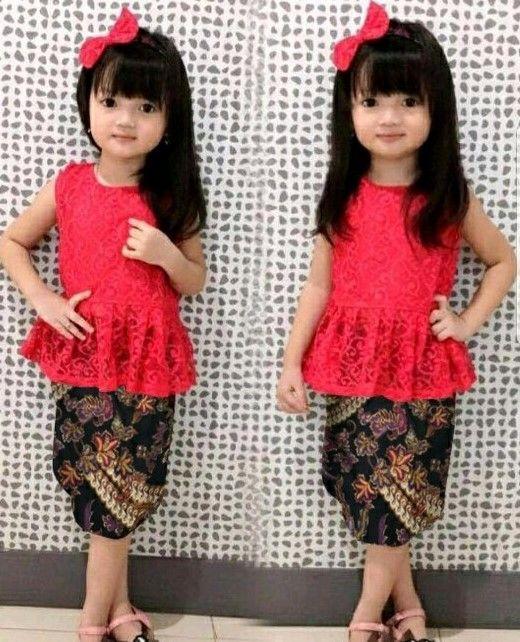 Baju Kebaya Anak Anak Perempuan Tanpa Lengan Baju Kebaya Di 2019