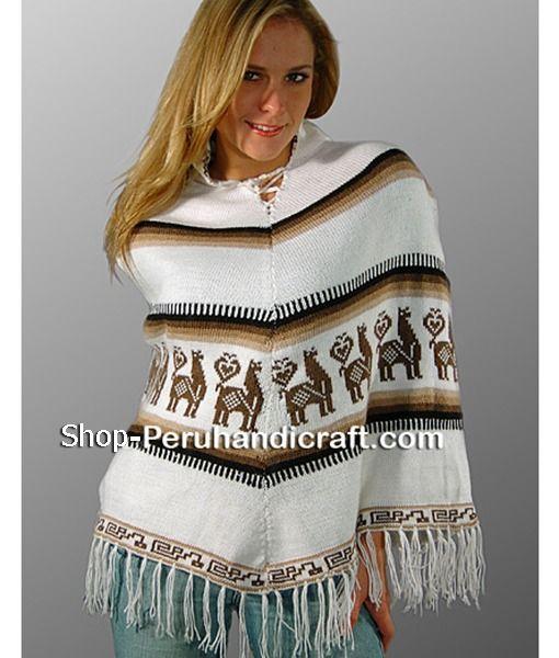 82d49effd Alpaca Wool poncho womens white   Women's Ponchos   Wool poncho ...