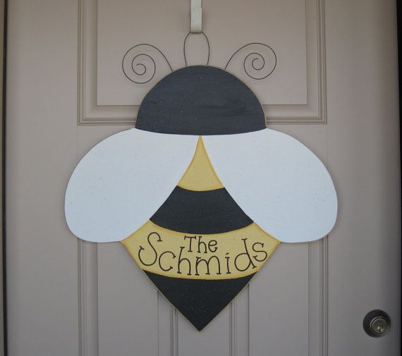 LARGE 24 Hanging PERSONALIZED BEE For Door Wall Girl Bedroom Or Home
