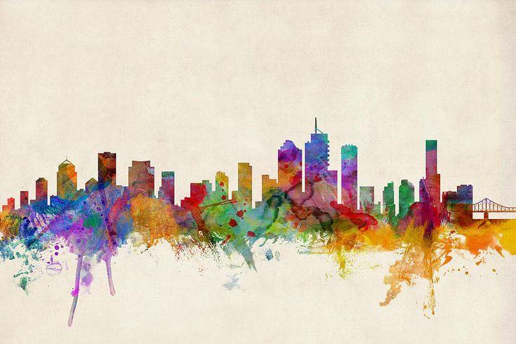 Brisbane Australia Skyline Digital Art