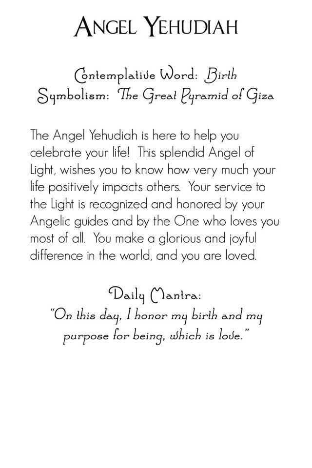 Archangel Yehudiah | back | Mystic Angels Oracle 07
