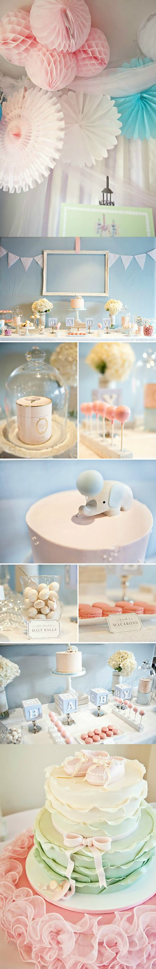 Party ● Baby Shower ● Pink & Blue Decorations