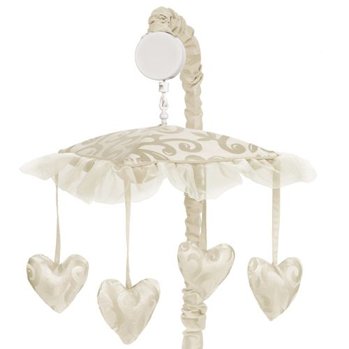 Baby's Own Room - Victorian Ivory and Champagne Musical Crib Mobile, $44.99 (http://www.babysownroom.com/victorian-ivory-taupe-baby-crib-mobile/)
