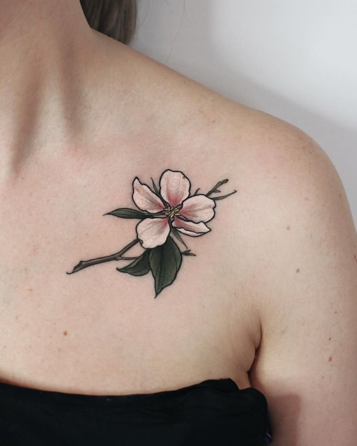 Tiny apple tree flower #tattoo #tattoos #plants #flowers #botanical