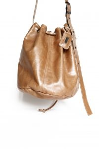 Stunning genuine leather bucket handbag in Hazelnut colour lined with beautiful fabric. From the Thandana Collection. Buy it from Wave2Africa - an online gift and decor boutique.