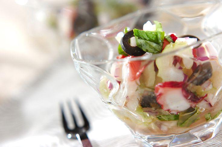 セロリとタコのマリネのレシピ・作り方 - 簡単プロの料理レシピ | E・レシピ