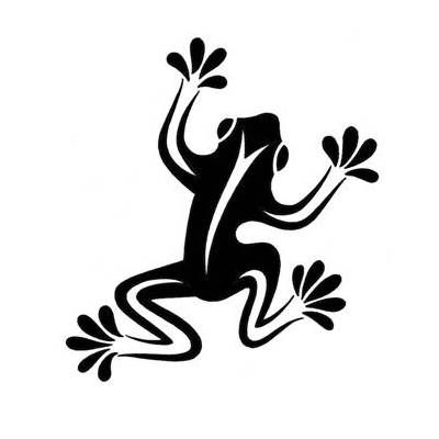 Cool Simple Tribal Frog Tattoo Design | Tattoobite (tshirt or quilling)