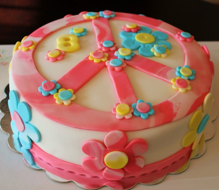 peace sign cakes - Google Search