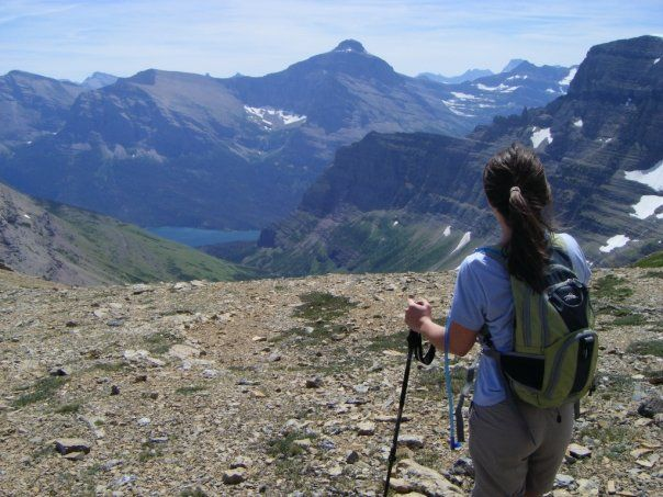 Gazing at the mountains atop Siyeh Pass, one of Glacier National Park's most rewarding day hikes!