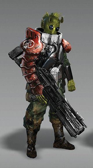 #Rodian #HiredGun #Soldier
