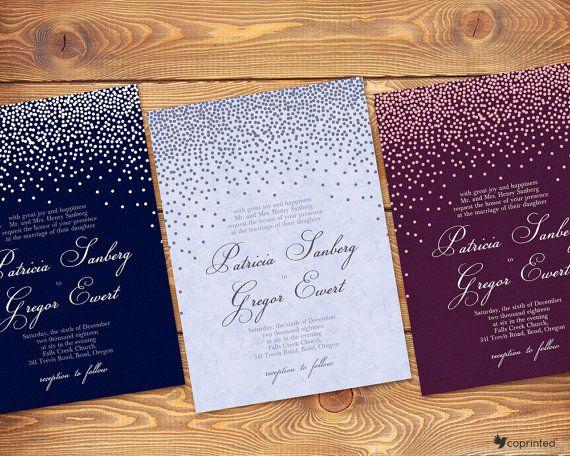 Free Winter Wedding Invitation Templates PaperInvite