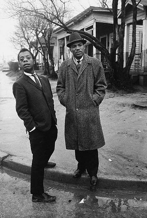 James Baldwin and Civil Rights Activist James Meredith © Steve Schapiro 1963