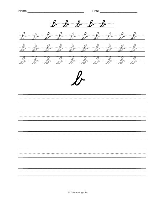 Cursive B Lowercase | www.pixshark.com - Images Galleries ...