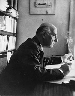 "George Seferis, born on this day in 1900: ""The strange thing about imagery is that a great deal of it is subconscious, and sometimes it appears in a poem, and nobody knows wherefrom this emerged. But it is rooted, I am certain, in the poet's subconscious life, often of his childhood, and that's why I think it is decisive for a poet: the childhood that he has lived."""
