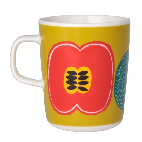 Kompotti mug by Marimekko. Pattern design by Aino-Maija Metsola.