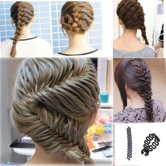 MOONBIFFY Women Lady French Hair Braiding Tool Braider Roller Hook With Magic Hair Twist Styling Bun Maker Hair Band Accessories