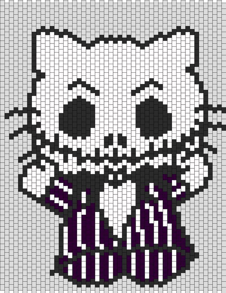 Jack Skellington Hello Kitty bead pattern