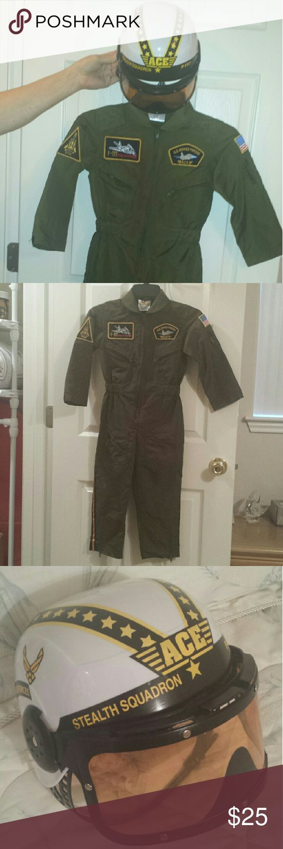 Kids Pilot Suit Costume Kids Pilot Suit Costume Get real gear dress up for kids Costumes Halloween