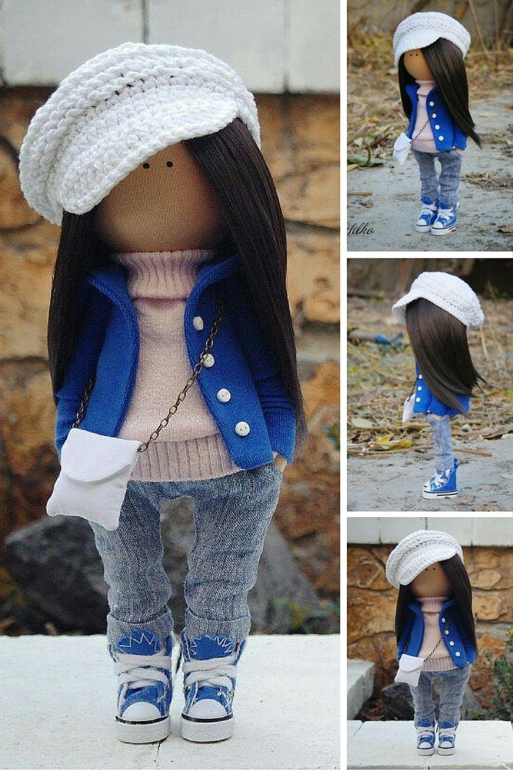 Decor doll handmade teenager girl Rag doll Cloth Art doll Soft dollunique magic doll by Master Margarita Hilko
