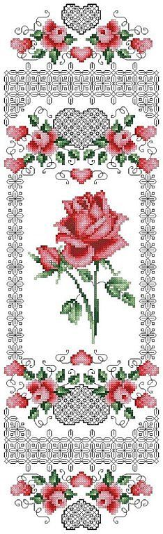 Cross-stitch & Blackwork Roses... no color chart available, just use pattern chart as your color guide...    BLACKWORK-esquemas | Aprender manualidades es facilisimo.com