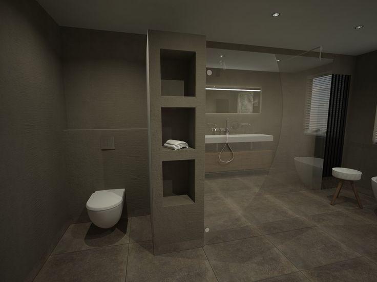 Meer dan 1000 idee n over beton badkamer op pinterest betonnen wastafel badkamer en betonnen - Italiaanse gesloten douche ...