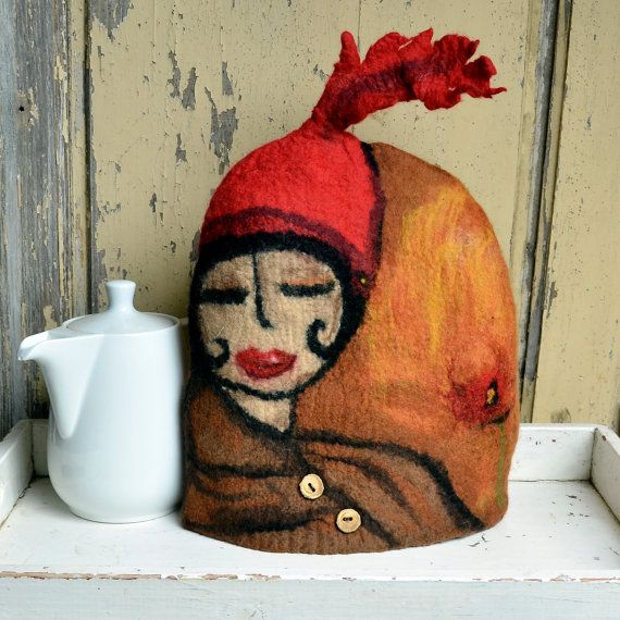 french press cozy Felted French Press Cosy French Coffee by jannio