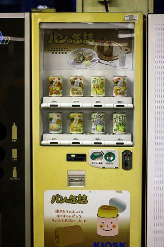 bread in a can in a vending machine