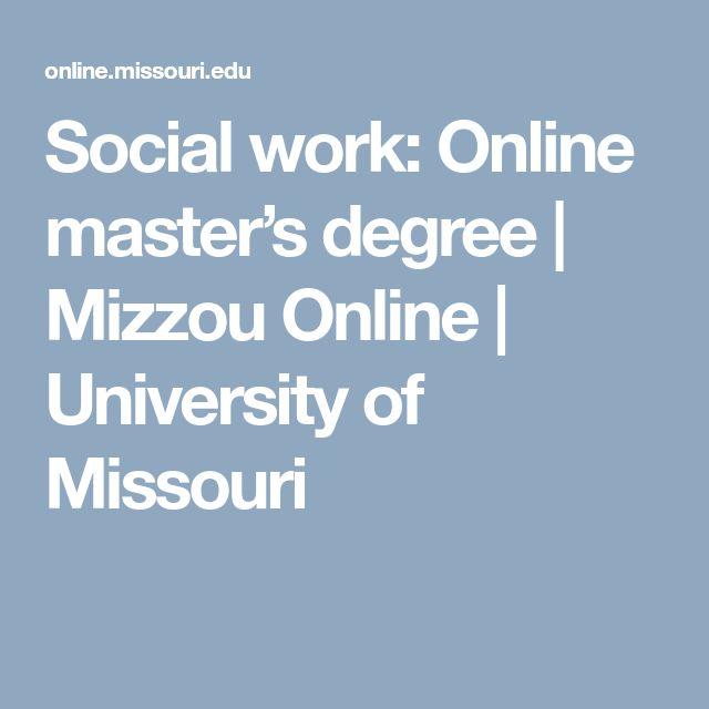 Social work: Online master's degree | Mizzou Online | University of Missouri
