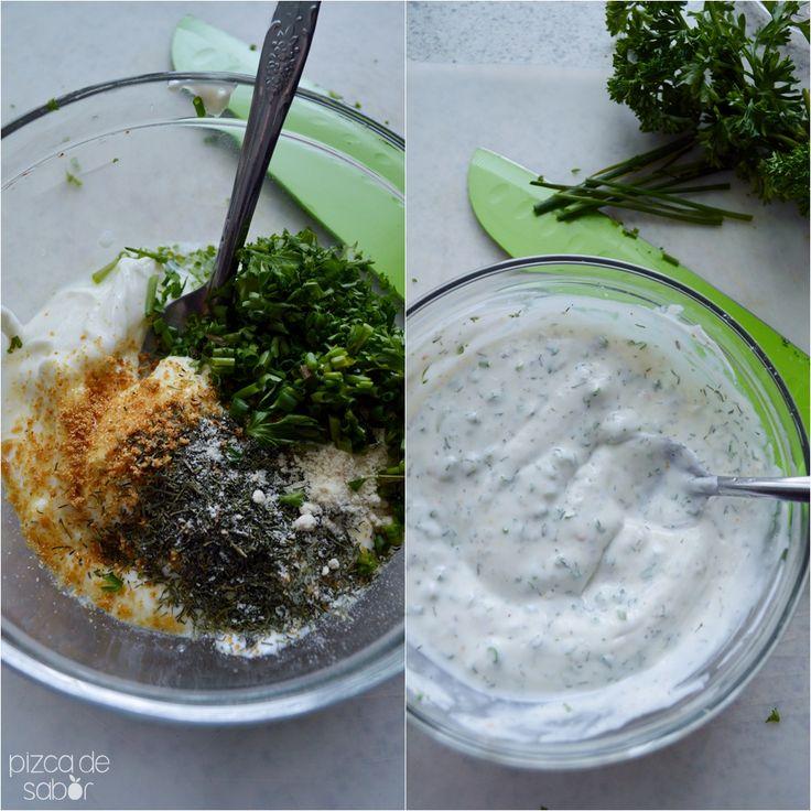 Cómo hacer un aderezo ranch versión saludable www.pizcadesabor.com