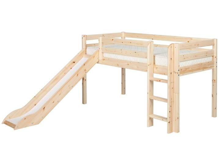 Classic Halbhohes Bett Mit Senkrechter Leiter Rutsche 200 Cm