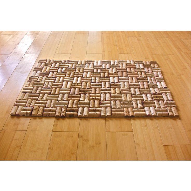 Alfombra de baño de vino corcho reciclado con tejer patrón