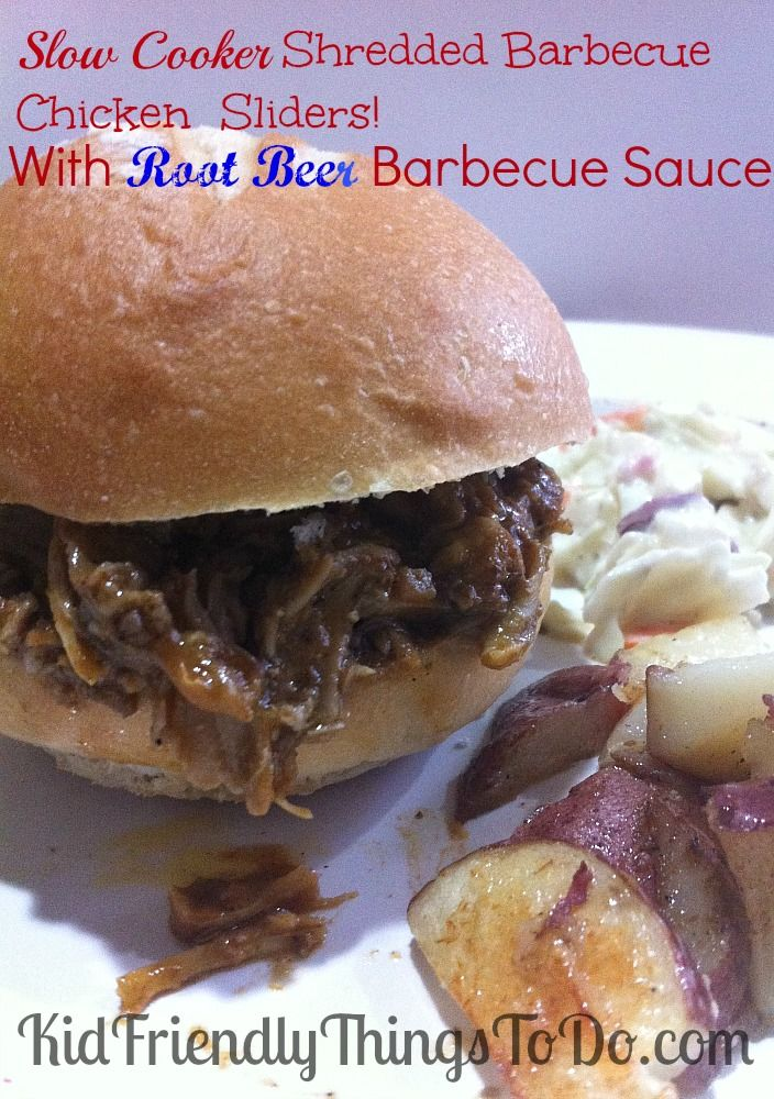 root beer barbecue sauce slow cooker shredded chicken barbecue sauce ...