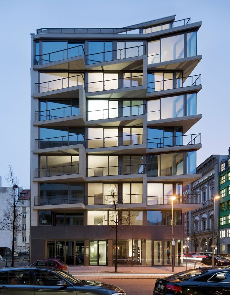 """Built by Michels Architekturbüro in Berlin, Germany with date 2013. Images by Werner Huthmacher. Apartments """"Charlotte"""" - a great success for the developer as well as marketing. Within weeks, and long before the co..."""