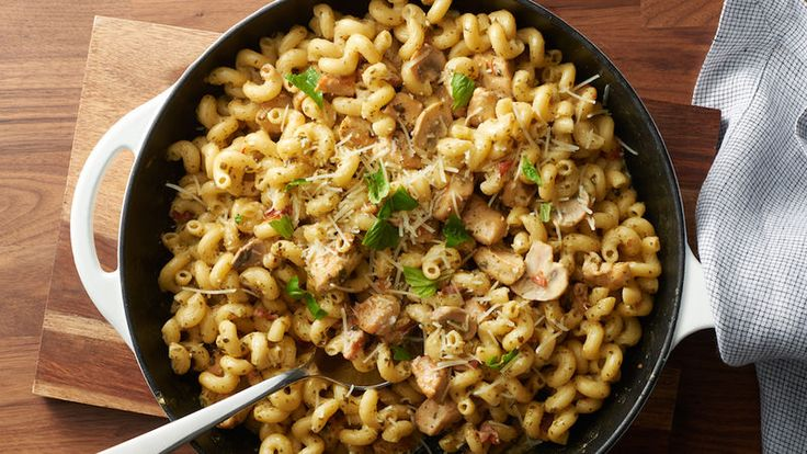 We have oodles of noodles recipes, and this creamy pesto chicken pasta will certainly impress.