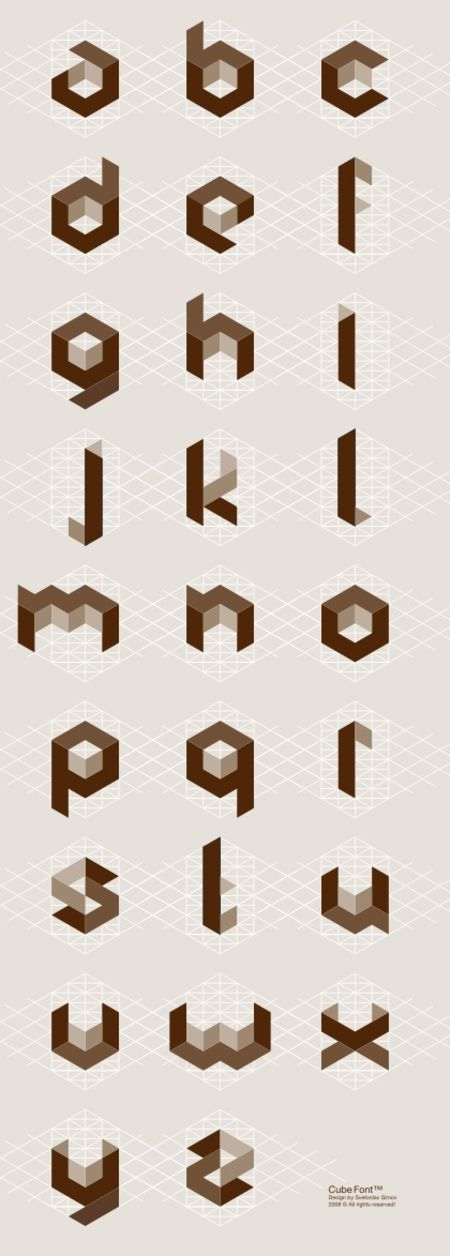 CW <3 took me a long time to get the concept of creating these by hand~Cubic alphabet by Svetoslav Simov. ~ With optimal health often comes clarity of thought. Click now to visit my blog for your free fitness solutions!