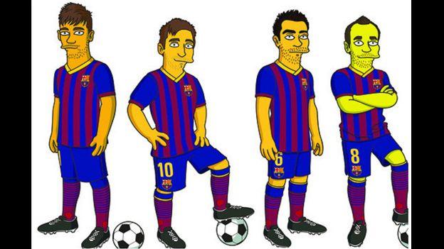Barcelona: Lionel Messi y Neymar ficharon por Los Simpson #Depor