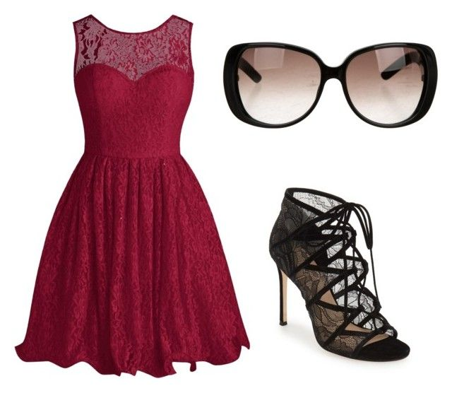 Untitled #13 by lidiasalazar on Polyvore featuring polyvore Pour La Victoire Gucci fashion style clothing