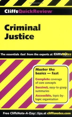 Bestseller Books Online Criminal Justice (Cliffs Quick Review) Dennis Hoffman $9.99  - http://www.ebooknetworking.net/books_detail-0764585614.html