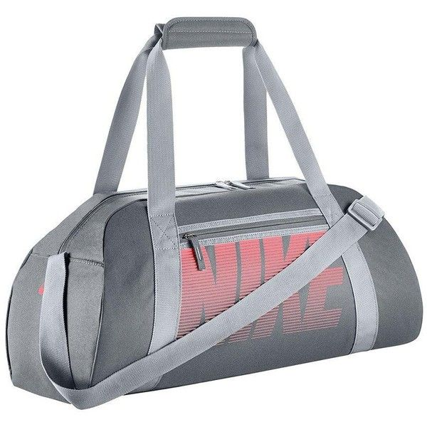 Nike Gym Club Bag ($24) ❤ liked on Polyvore featuring bags, nike, water resistant bag, pocket bag, nike bags and gray bag