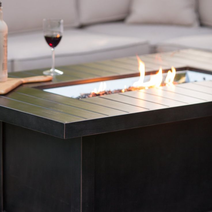 Napoleon Rectangle Propane Fire Pit Table - Fire Pits at Hayneedle