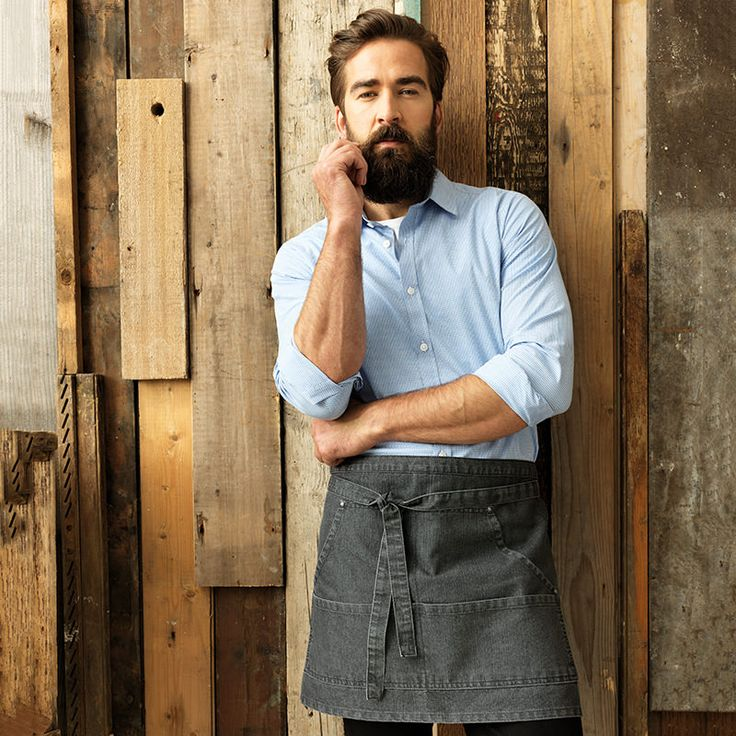 We have combined practicality with style and are proud to present this trendy denim waist apron that is a welcome addition to the hospitality wear collection. Available in black denim and indigo denim.  #Denim #Fashion #Premier #PremierWorkwear #Aprons #Workwear #Hospitality #Bar #Restaurant #Uniform #Style #DressingYourWorkForce #StylishStaff #PR125 #DressToImpress