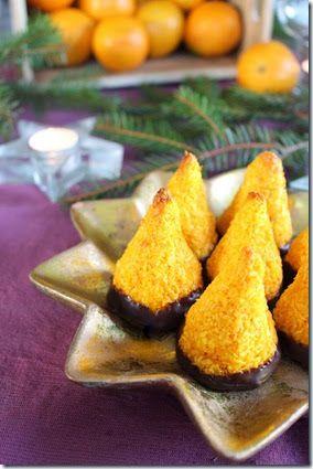 Kokostoppar med smak av saffran och apelsin   Bagerskan