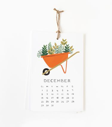 2013 Garden Calendar  Perfect gift for all the gardeners in my life.