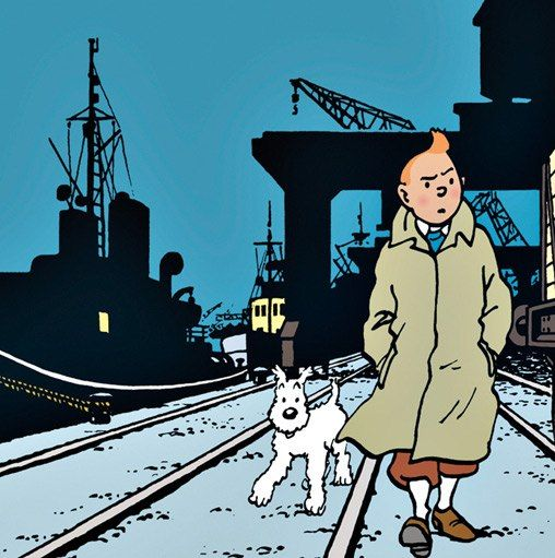 Never stop exploring… keep on discovering… studying and learning about Others and Yourself.  Peanuts readers may become novelists and shrinks, but Tintin readers? They become explorers. Here, Tintin faces a new mystery in Land of Black Gold (1950), set in the fictional country of Khemed (inspired by Palestine).